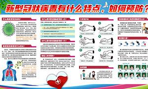 预防新型冠状病毒肺炎宣传栏PSD模板