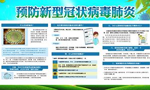 预防新型冠状病毒肺炎宣传栏PSD源文件