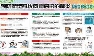 新型肺炎科普小知识宣传栏PSD素材