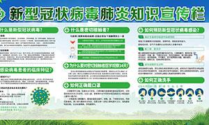 抗击新型冠状病毒宣传栏PSD素材