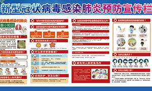 新型冠状病毒肺炎预防知识宣传栏PSD