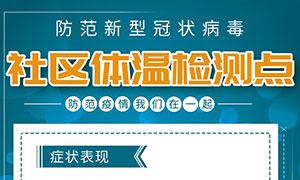 社区体温监测点宣传海报PSD素材