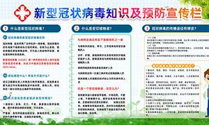 新型冠状病毒知识及预防宣传栏PSD素材