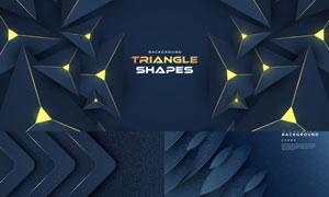 立体质感几何图形抽象背景矢量素材