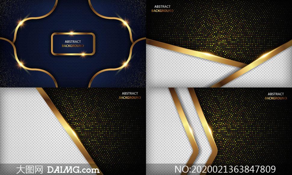 光效装饰圆点元素抽象背景矢量素材
