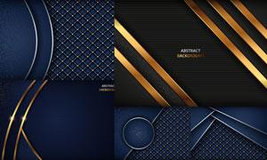 金色与银色的几何背景创意矢量素材