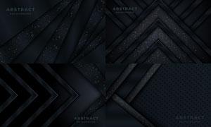 暗黑配色几何抽象图形背景矢量素材