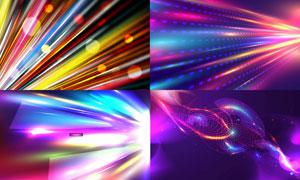絢麗多彩光效元素背景設計矢量素材