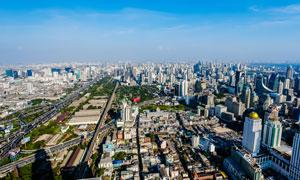 拜约克摩天塔下的曼谷美景高清摄影图片