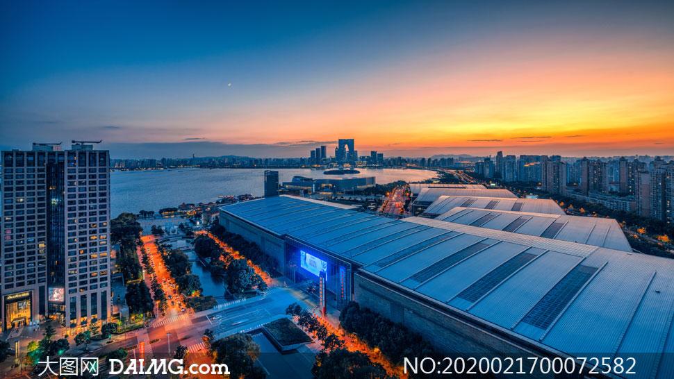 夜幕下的蘇州美景高清攝影圖片