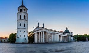 维尔纽斯大教堂景观高清摄影图片