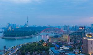 武汉城市美丽夜景高清摄影图片