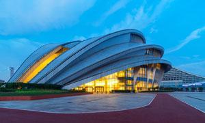 武漢國際博覽中心美麗夜景攝影圖片