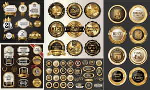 金属质感精选品质铭牌标签矢量素材