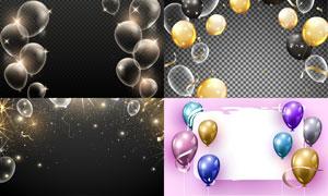 星光与气球等梦幻元素创意矢量素材