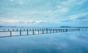 武汉东湖凌波门美景摄影图片