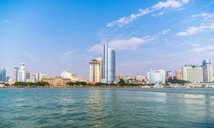 廈門海邊建筑美景攝影圖片