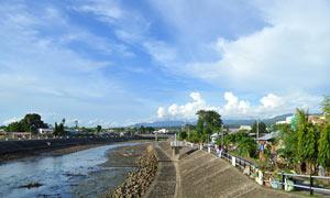 菲律宾海边建筑景观摄影图片