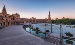 塞维利亚西班牙广场景观摄影图片
