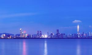 深圳福田区海岸线全景摄影图片
