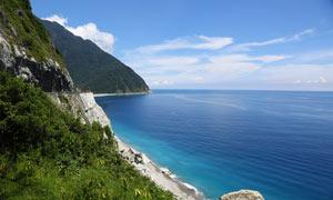 海邊的懸崖景觀高清攝影圖片