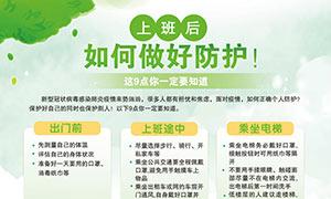 企业复工如何做好疫情防护宣传海报PSD素材