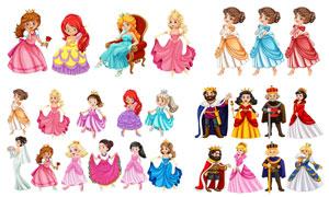 童话故事人物卡通创意矢量素材集V09