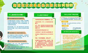 如何預防新型冠狀病毒肺炎展板PSD素材