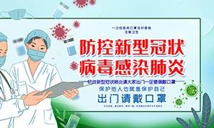 防控新型冠状病毒感染肺炎宣传展板