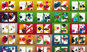幾何抽象圖形元素畫冊封面素材集V01