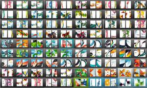 幾何抽象圖形元素畫冊封面素材集V02