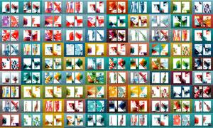 几何抽象图形元素画册封面素材集V03