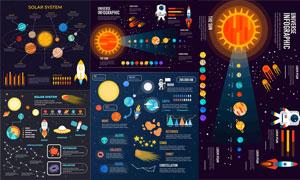 太阳系行星系统信息图创意矢量素材