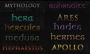 12款神話主題金屬質感文字PS樣式