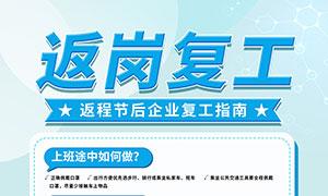 企业返岗复工指南宣传海报PSD素材