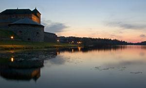 芬兰海门林纳黄昏风光摄影高清图片
