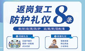 企业返岗复工8条防护礼仪宣传时时彩网投平台