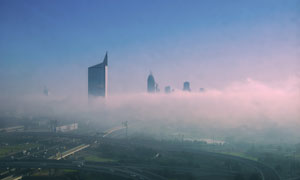 城市路桥与建筑物风光摄影高清图片