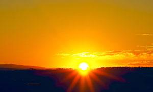 落日余晖黄昏晚霞风光摄影高清图片