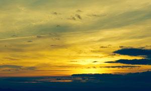 黄昏落日余晖霞光风景摄影高清图片