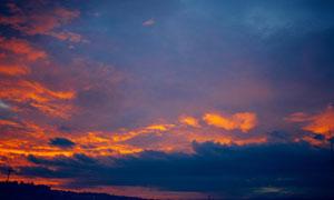 傍晚来临时分黄昏风光摄影高清图片