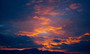 云彩密布天空自然风光摄影高清图片