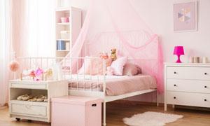 少女心公主風格兒童房攝影高清圖片