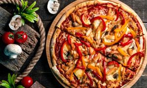 食材与让人垂涎的披萨摄影高清图片