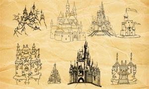 迪士尼城堡PS筆刷