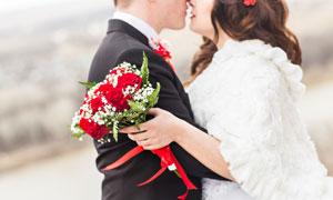 情侶人物婚紗外景主題攝影高清圖片