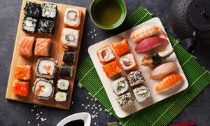 醬料筷子與日料壽司等攝影高清圖片