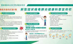 新型冠状病毒肺炎只是宣传栏PSD模板