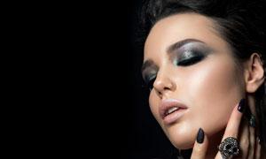 烟熏装扮妆容美女人物摄影高清图片