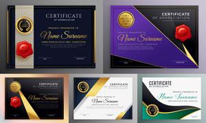 多种多样的授权书与证书等素材V189